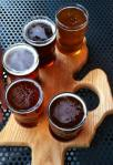 A beer flight from The Mitten Brewing Co.